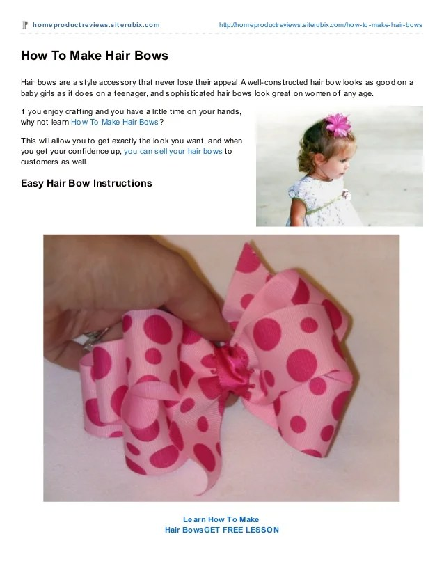 make hair bows of ribbon