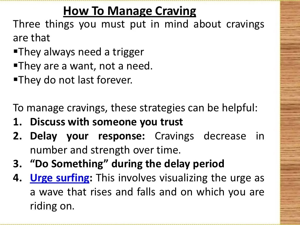 How To Manage Cravings And Triggers