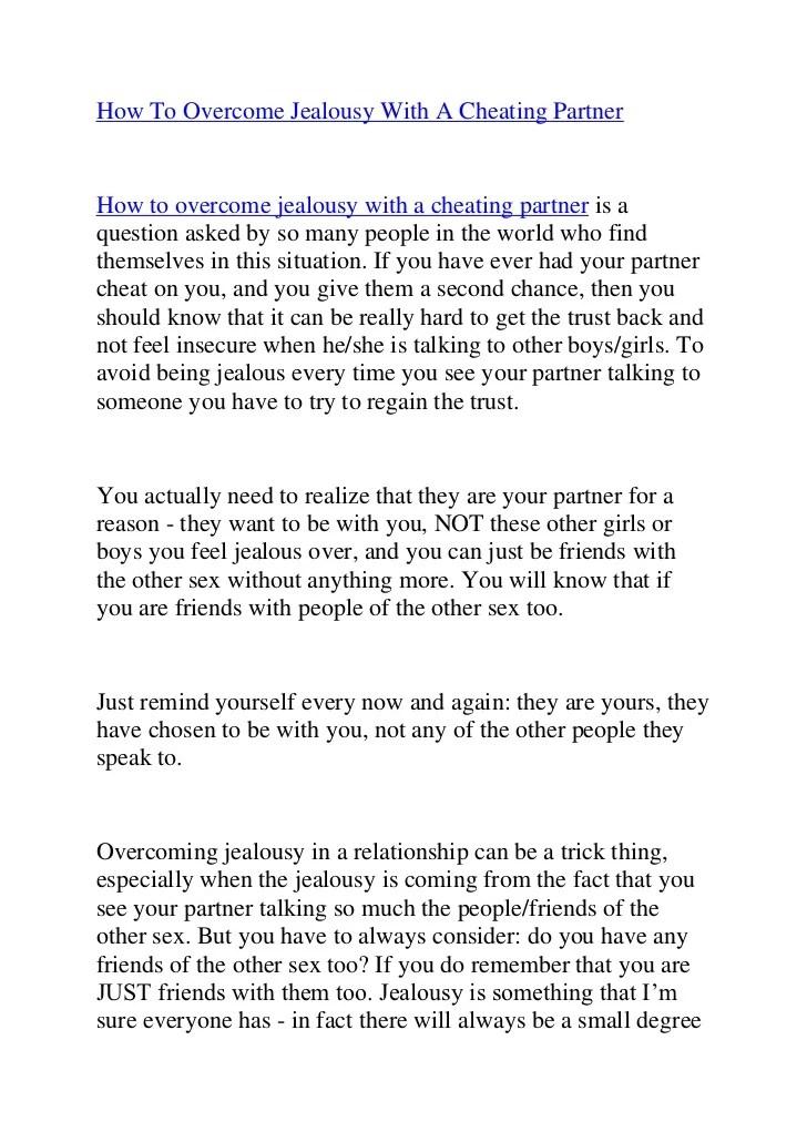 Ways to overcome jealousy