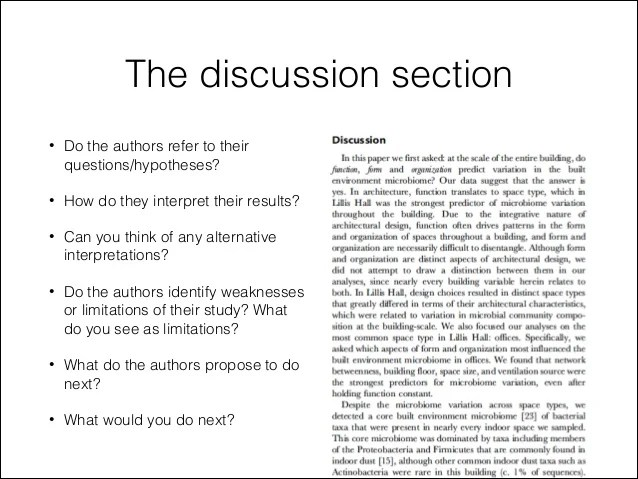 Analysis And Discussion In A Research Paper Research Paper Writing