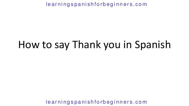 How Say Tiny Spanish