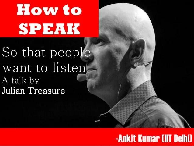 How To Speak Julian Treasure
