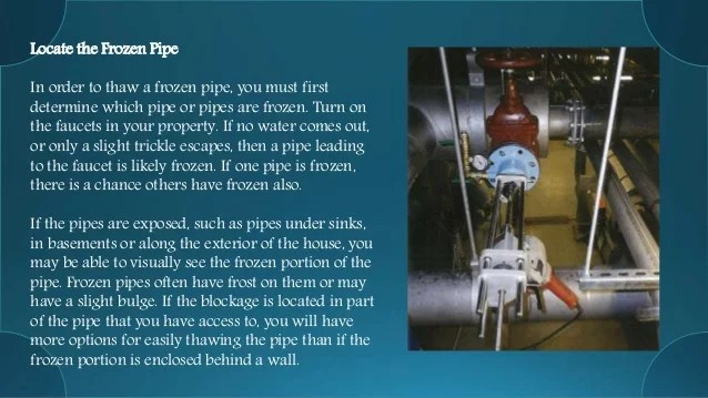 How to Thaw a Frozen Water Pipe