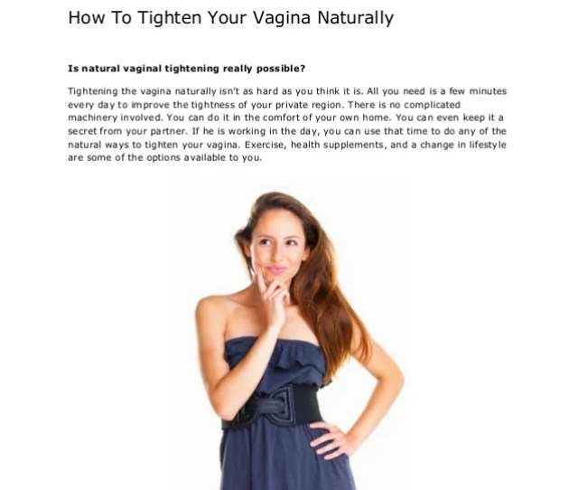 How To Tighten Your Vagina Naturally Is Natural Vaginal Tightening Really Possible
