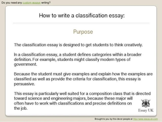 Division and classification essay types of friends