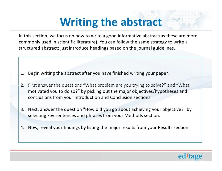 How To Write An Effective Title And Abstract And Choose Appropriate K