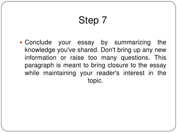 Writing an essay ppt