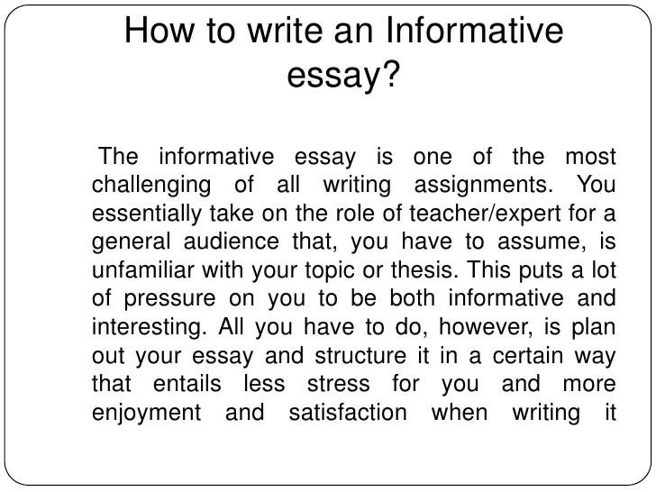 Informative Essays Example Informative Essay Informative Essay