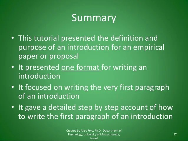 How to write an introduction the first paragraph tcm18117650