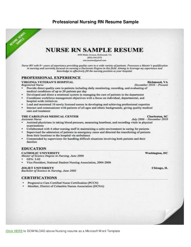 Resume Objective Examples For Registered Nurse Create