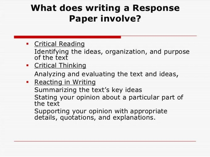 What Is The Thesis Of A Research Essay Responsive Essay How To Write A Reaction Response Paper Personal Poverty Essay Thesis also Small Essays In English Personal Reaction Essay Sample  Letter Redglobalmxorg Sample Synthesis Essays