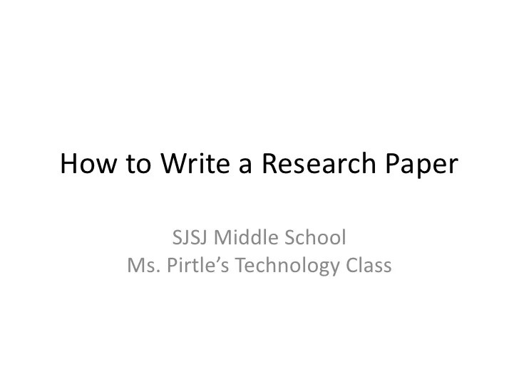 10 Steps To Writing A Research Paper