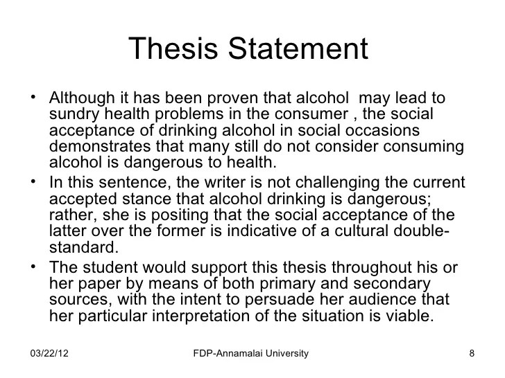 Thesis Statement In An Essay Essay Thesis Statement Example Research