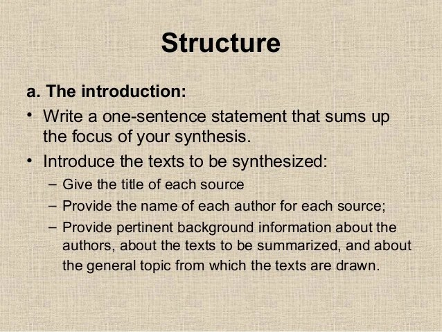 Synthesis Writing 112