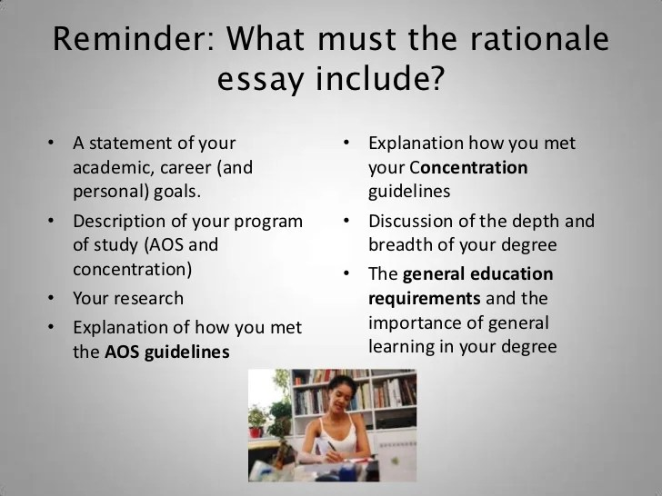 How To Write The Rationale Essay