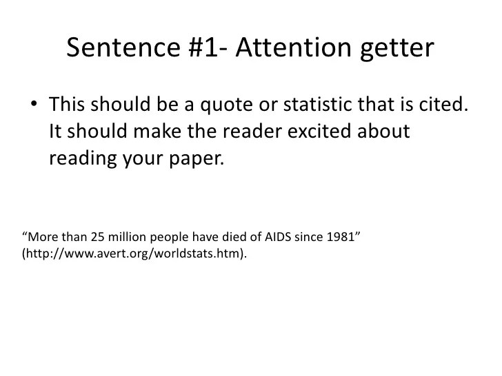 Attention Getter For Essays Quotes About Attention Getters For