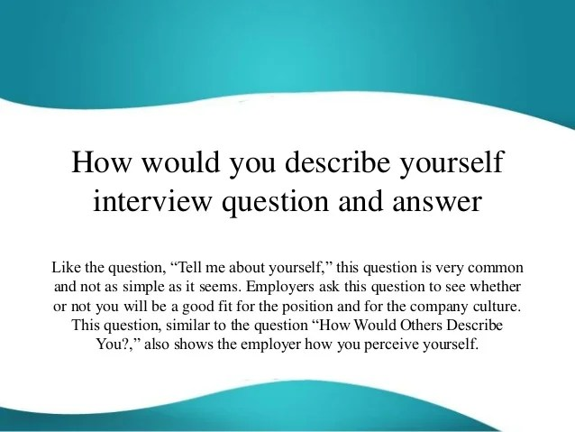 example answer to tell me about yourself interview question