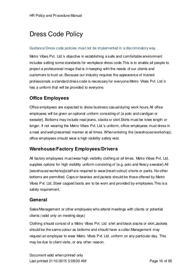 Hr Manual Template Hr Process Manual Template Sample Process Office Manual  Template  Professional Manual Template