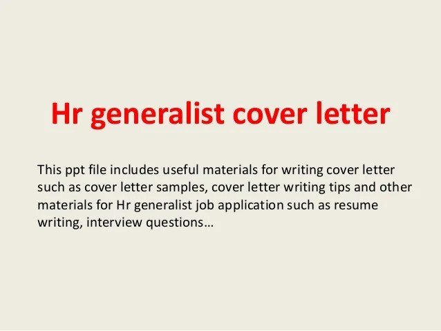human resources sample cover letter