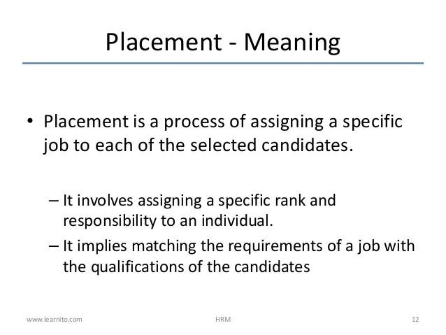 resume definition hrm
