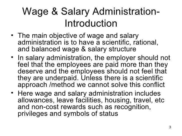 Hrm Wage Salary Administration