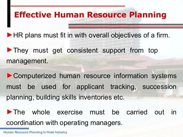 hotel management objectives