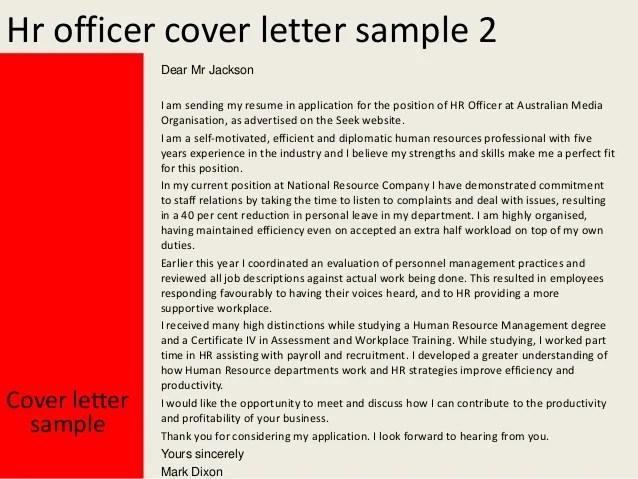 Hr Recruitment Officer Cover Letter | Sample Resume For Temp ...
