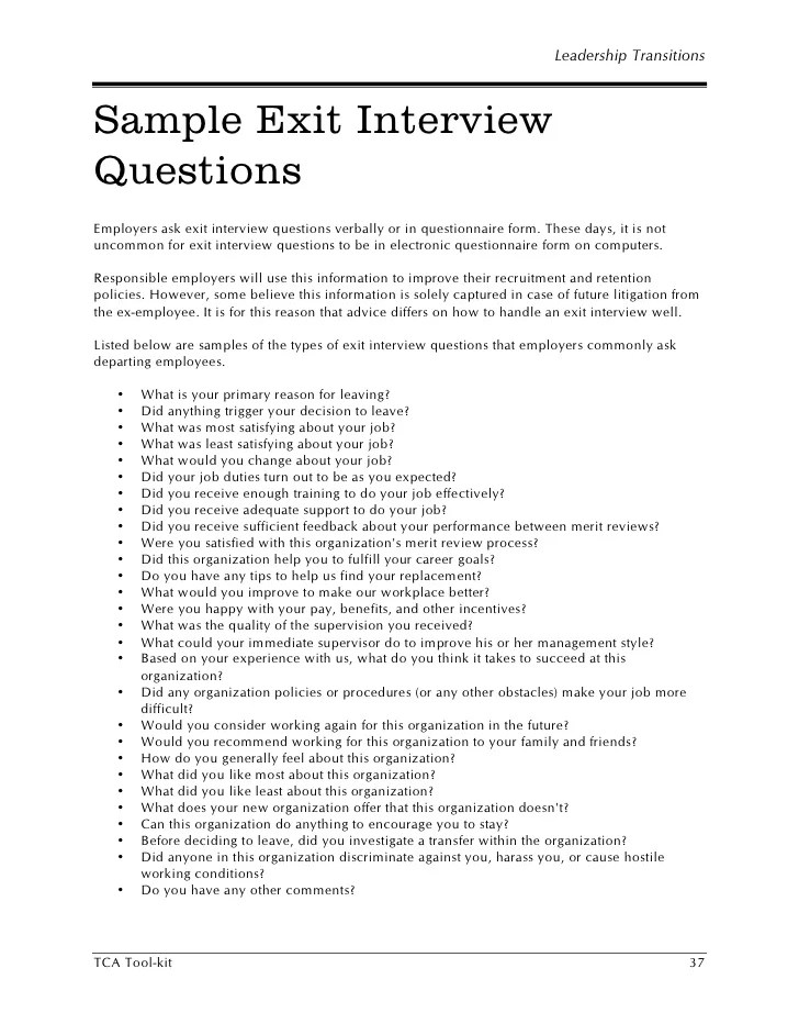 sample interview questions for employers