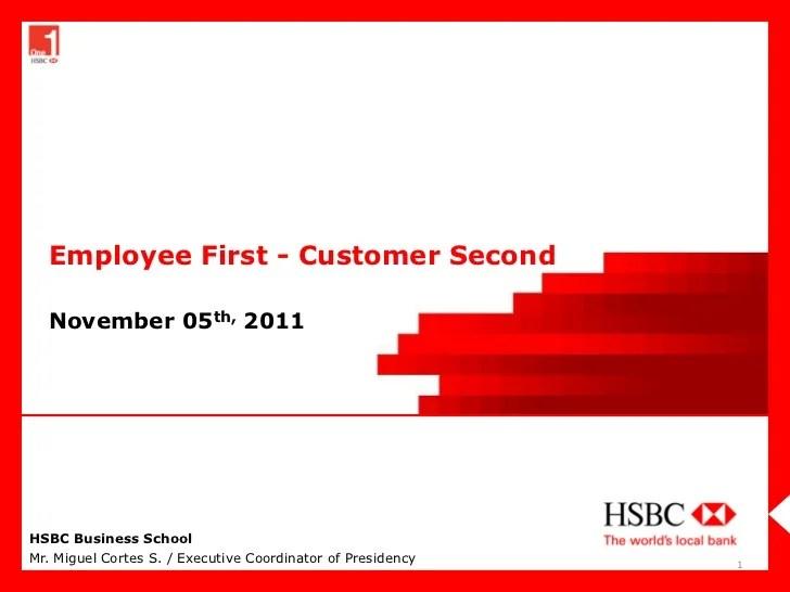 HSBC Employee First Customer Second 2011