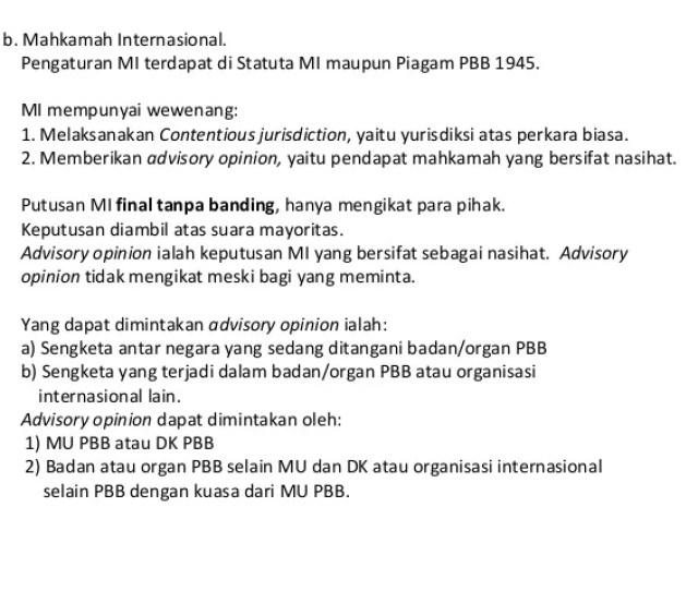 B Mahkamah Internasional