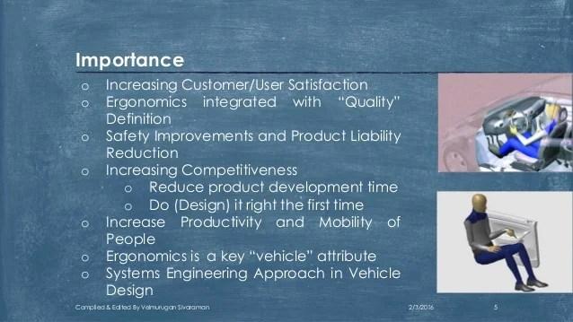 Human Factors Ergonomics In Automobile Enineering