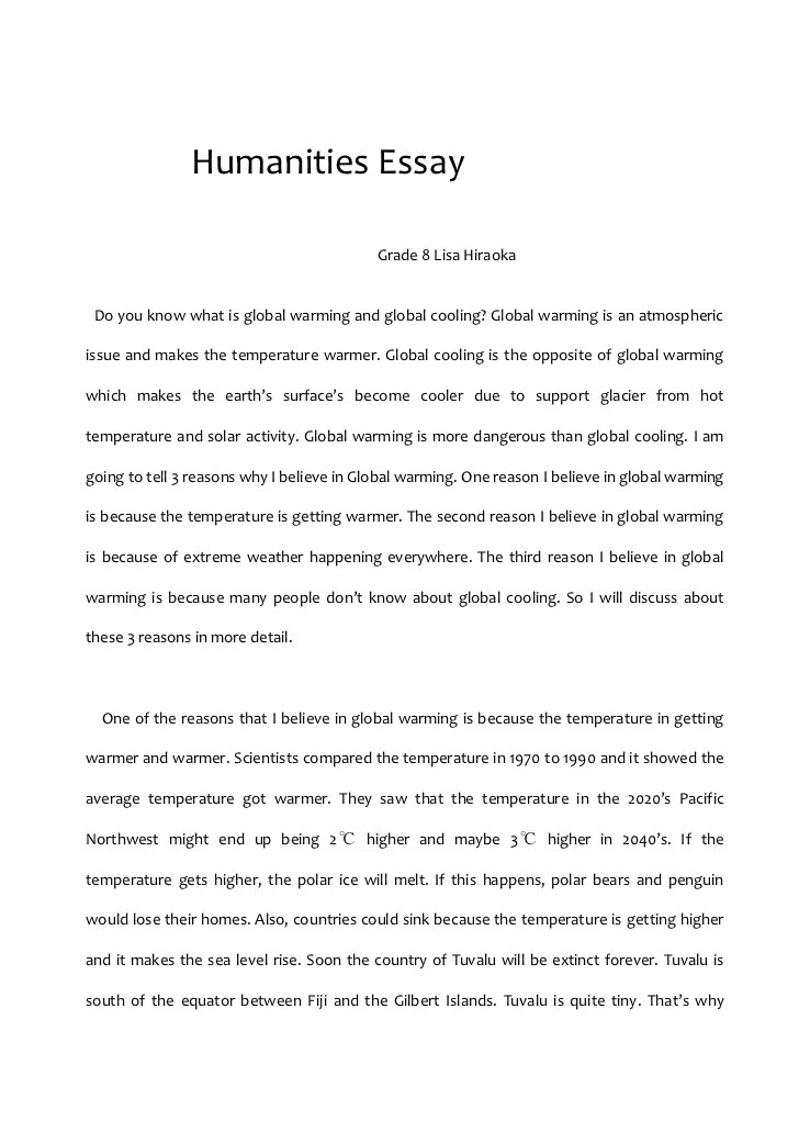Humanities Essay
