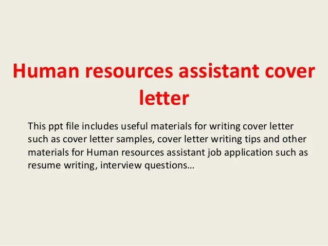 Human Resources Cover Letters For Resumes