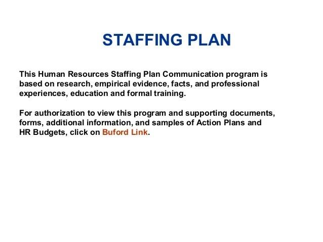 Human Resources Staffing Plan Communication Program