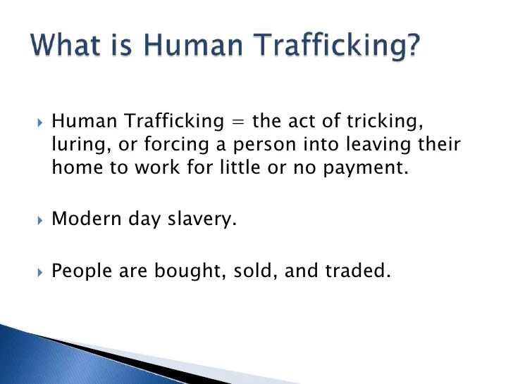 Human trafficking essay example