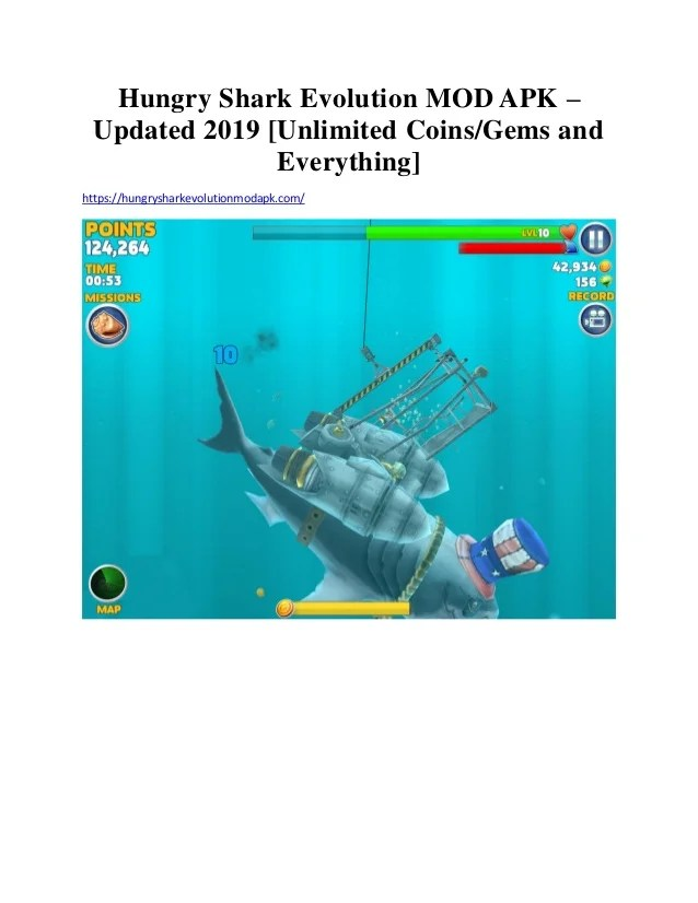 Hungry Shark Evolution MOD Apk 8.0.0 | Unlimited Gems
