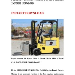 Hyster S50xm Forklift Wiring Diagram How To Wire A Two Way Switch 9 6 Stromoeko De C108 E40 Xl E50xl E60xl Service Repair Factory Manu Rh Slideshare Net 60