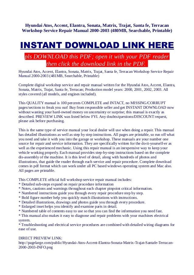2002 Hyundai Accent Haynes Repair Manual