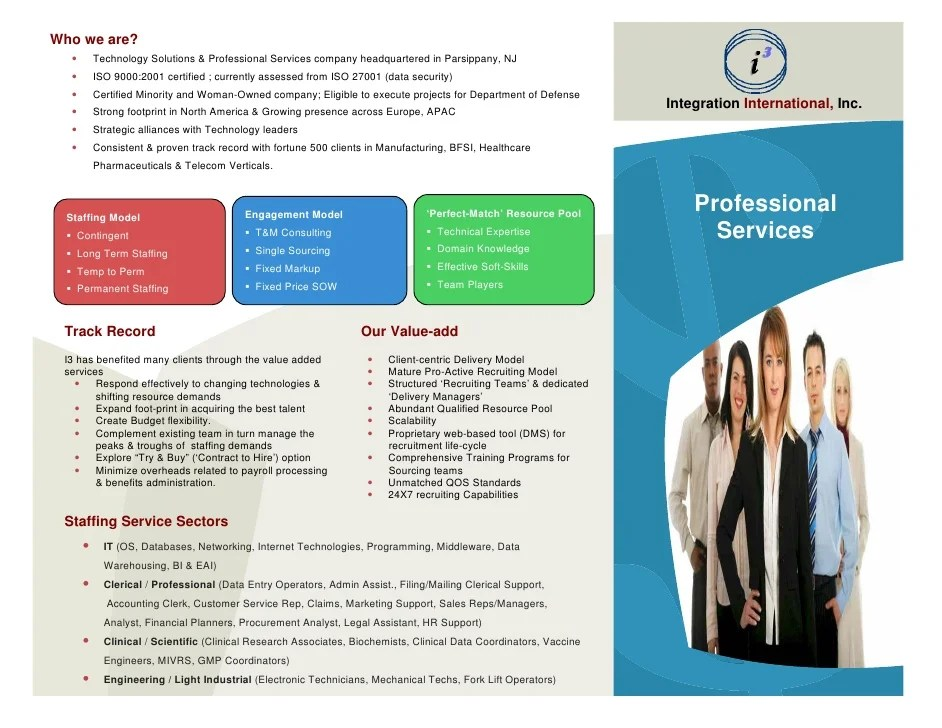 I3 Staff Augmentation Services Brochure