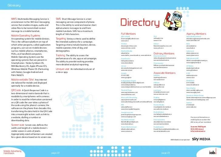 IAB Mobile Marketing Handbook