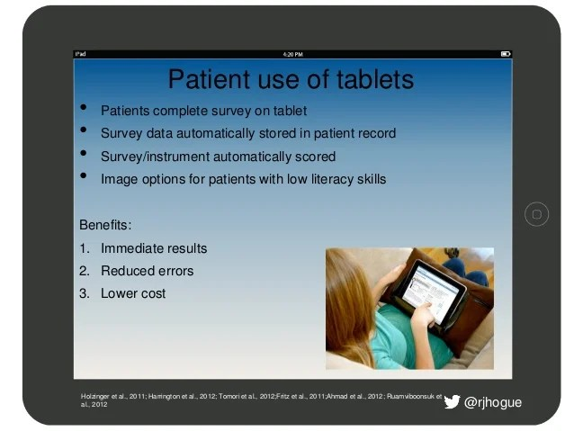 Tablet use in Medicine
