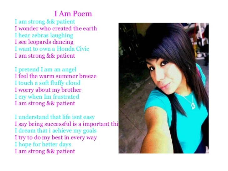Poem Am I Examples