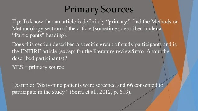 Primary And Secondary Sources In Science Research