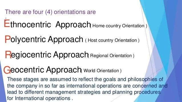 International Orientations