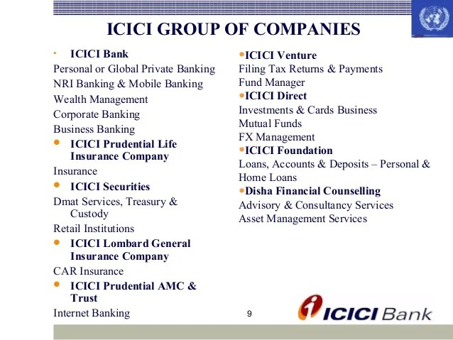 icici group of companies bank also rh slideshare