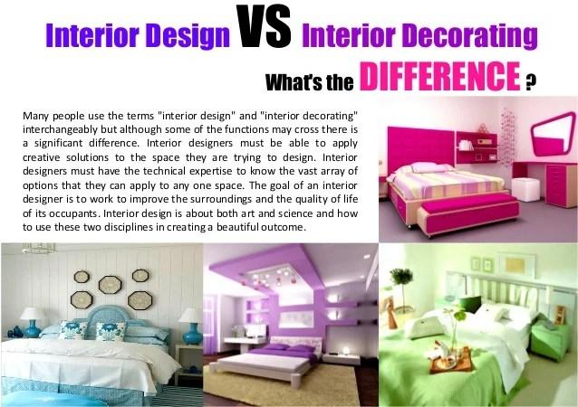 Interior design vs interior decorating for Interior designer vs interior decorator