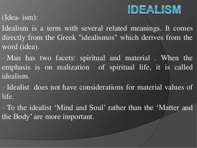 Idealist Definition
