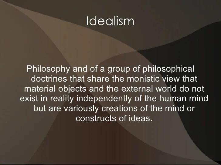 Idealism presentation