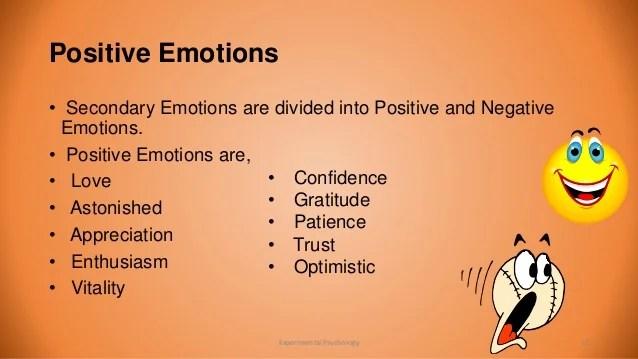 Identification of emotions