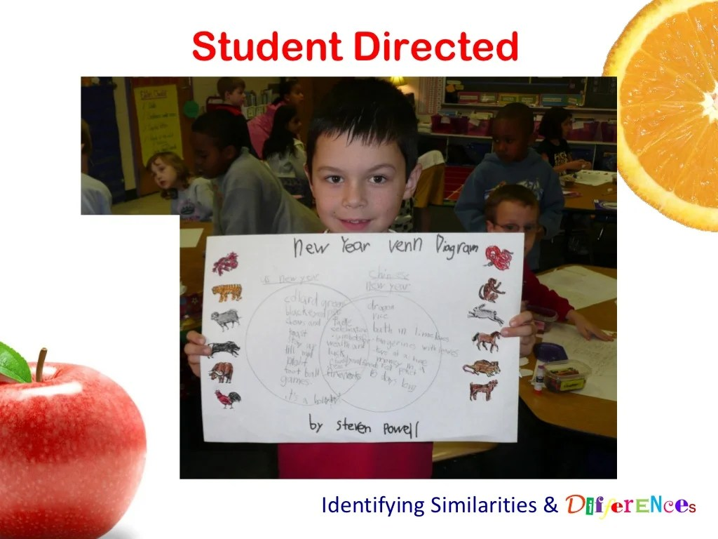 Student Directed Identifying Similarities
